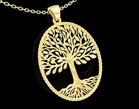 3D printable model Tree Of Life Pendant jewelry Gold