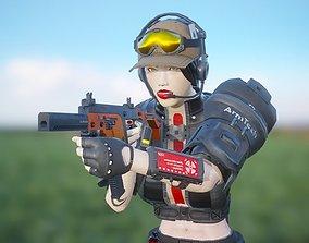 Esther - Mercenary Girl 3D model