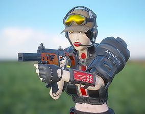 Esther - Mercenary Girl 3D model