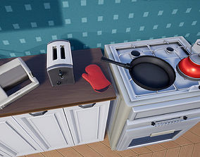 3D model Stylized Interior Set