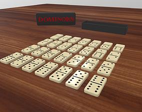 Dominoes set 3D model