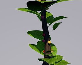 simple cherry wood branch 3D