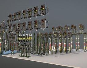 Railway Signals KS-Type Construction-Kit 3D model