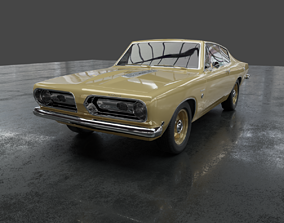 3D Plymouth barracuda 1968