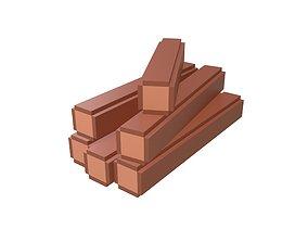3D model Voxel Wood Log v2 001