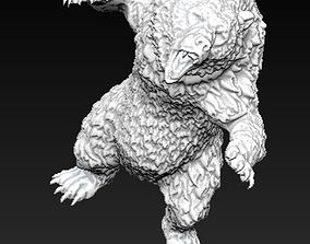 Angry grizzly bear 3D print model