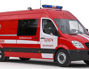 Mercedes Sprinter Rescue van 3D