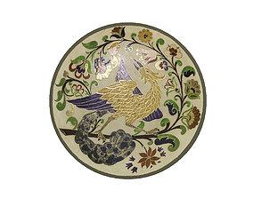 Traditional Plate 2 -Bird 3D