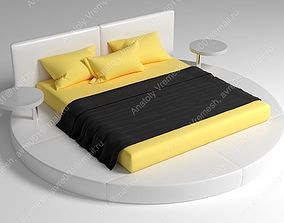 round 3D model Round bed