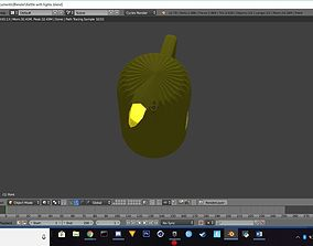 Ketlle with lights 3D model