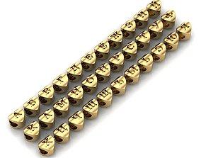 CHARMS RUSSIAN ALPHABET 3D print model bracelettesselcaps