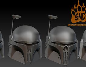 3D printable model Set of Custom Mandalorian Helmets 1