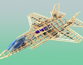 Plan for RC F-35A plywood kit 3D