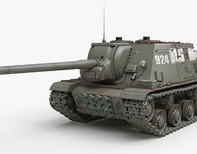 3D model Tank ISU 122 Russian Corona
