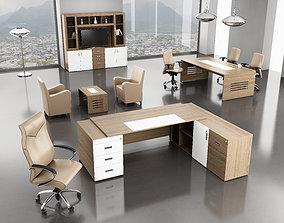 office interior desk 3D model