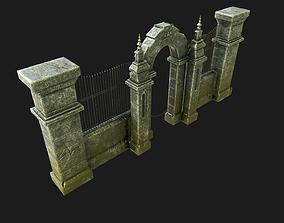 3D asset Cemetery Gateway
