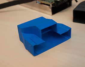 Custom cooling shroud duct for Intel Xeon 3D print model 1
