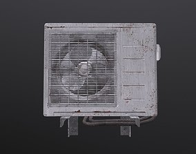 Air Conditioner Old 3D asset game-ready