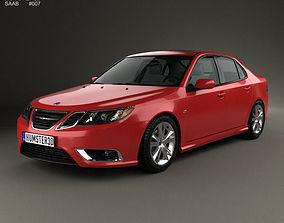 3D Saab 9-3 Sport Sedan 2008