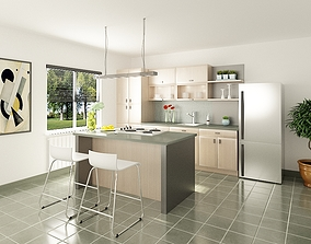 Kitchen 02 3D model