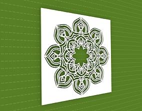 3D Mandala ornament geometric