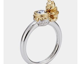 winnie the pooh engagement ring baby ring 3D print model