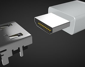 3D HDMI male and female connector