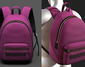 3D model Backpack Camping color bag baggage