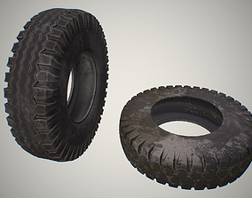 3D model game-ready car tire
