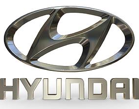 3D Hyundai logo car