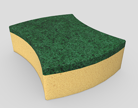3D model game-ready CC0 - Sponge 3
