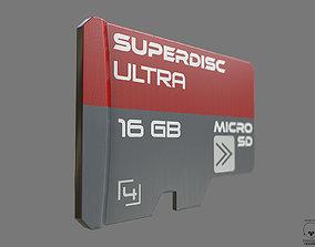 Micro SD Card PBR 3D asset