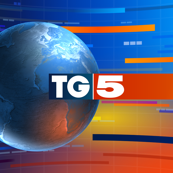 "3d Studio and graphics for italian tv program ""TG5"""