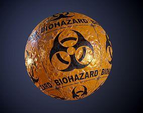 3D model Metal Yellow Biohazard Sign Sci-Fi Seamless PBR