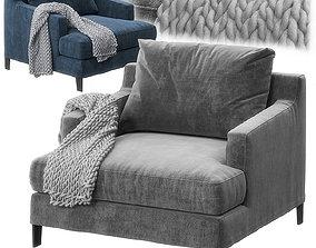 Bellport armchair by Poliform 3D model