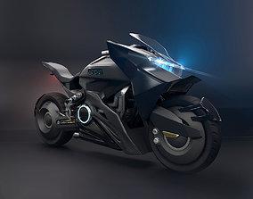 3D Sci Fi futuristic motorcycle