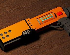 3D asset Futuristic Blaster low poly