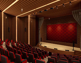 3D asset Auditorium VR AR Game Ready