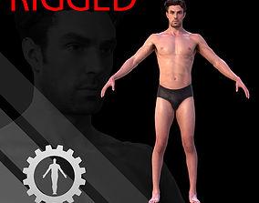 3D asset Male Scan - Dan RIGGED