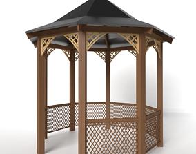 3D model Wooden Garden Pavilion