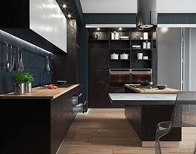 Industrial Interior Modern Kicthen - 3D model