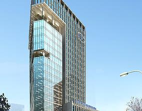 3D Models skycraper Building with city