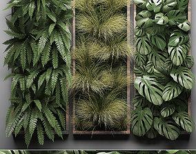 3D model Vertical gardening Fern Wall 3
