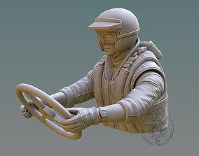 Drag Boat Pilot Bust 3D printable model