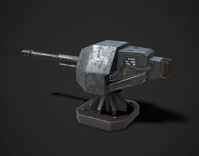 3D asset Turret Sentry Game Model