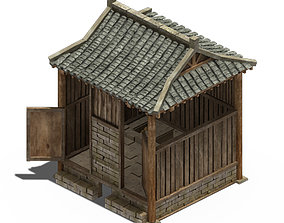 Ancient Chinese architecture - toilet 3D