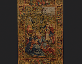 Month of October Tapestry 3D asset