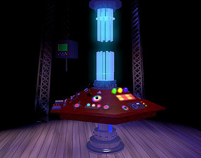 Doctor Who - 8th Doctor TARDIS console 3D model