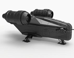 3D printable model The Mandalorian ship Razor Crest