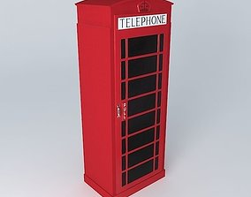 Dressing red phonebox houses the world 3D model